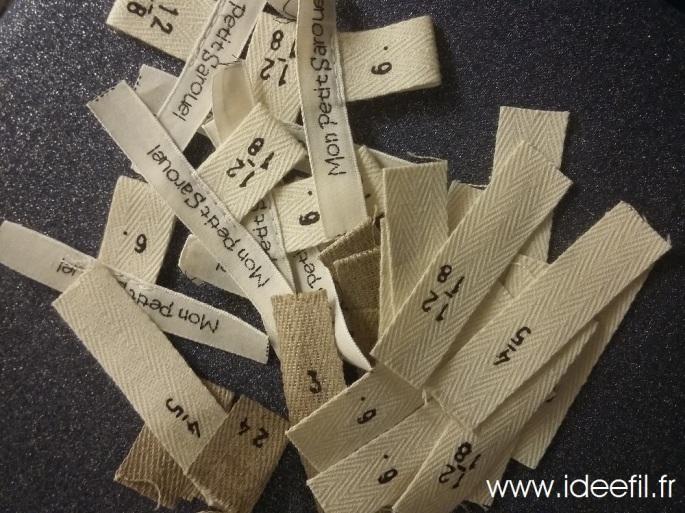 photo des étiquettes de taille, vêtements pour enfant Idée Fil