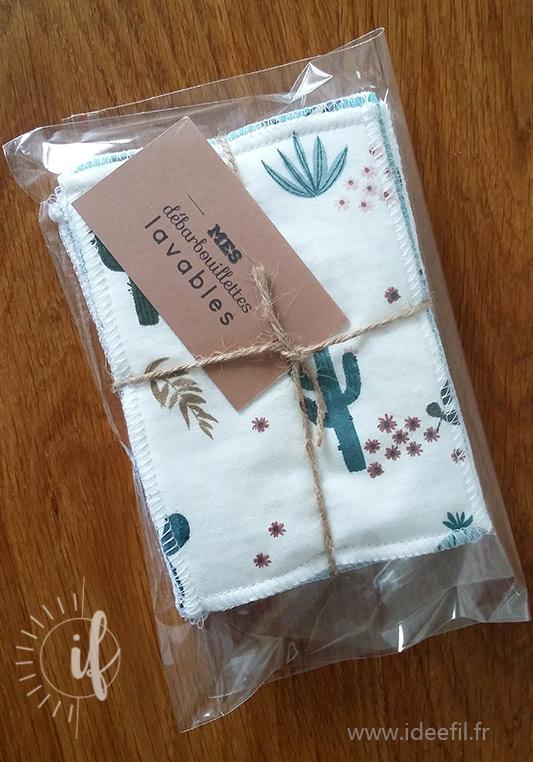cadeau de naissance lingettes lavables zéro déchet